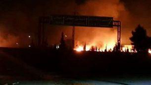 انفجارات في منطقة الكسوة في سوريا، جنوب دمشق، 8 مايو 2018 (Twitter)