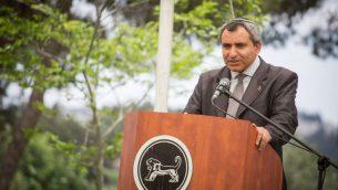 الوزير زئيف الكين في القدس، 23 مايو 2017 (Hadas Parush/Flash90)