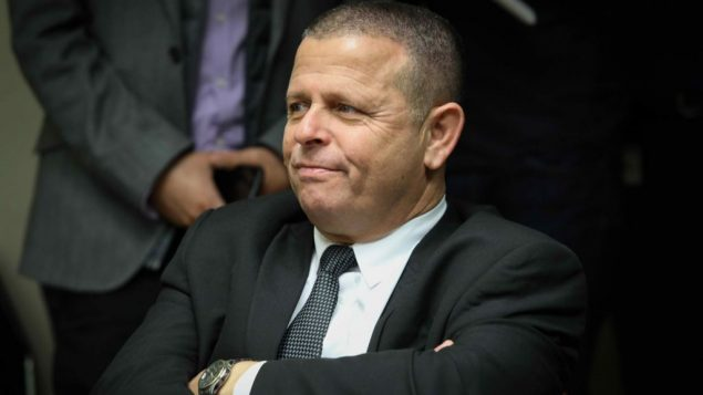 عضو الكنيست ايتان كابل من المعسكر الصهيوني خلال جلسة للحزب في الكنيست، 22 يناير 2018 (Flash90)