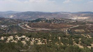 مستوطنة شافي شومرون في الضفة الغربية. (Ilan Ben Zion/Times of Israel staff)