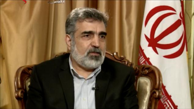 بهروز كمال وندي، الناطق باسم منظمة الطاقة الذرية الإيرانية، خلال مقابلة مع قناة العالم الإيرانية باللغة العربية، 5 مارس 2018 (Screen capture)