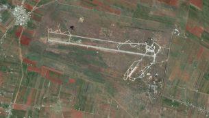 قاعدة القصير العسكرية في غرب سوريا (Google Earth)