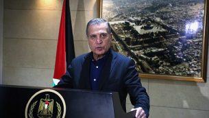 نبيل أبو ردينة، الناطق بلسان رئيس السلطة الفلسطينية محمود عباس (Flash90)