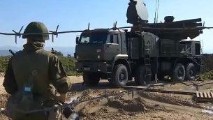 صورة توضيحية: نظام الاسلحة 'بانتسير 1' (YouTube screenshot)