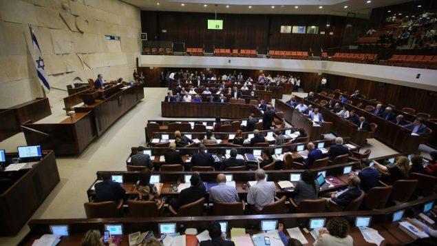 صورة لجلسة في الكنيست الإسرائيلي، 2 يوليو 2018 (Flash90)