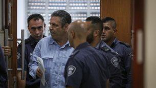 غونين سيغيف في المحكمة المركزية في القدس، 5 يوليو 2018 (Yonatan Sindel/Flash90)