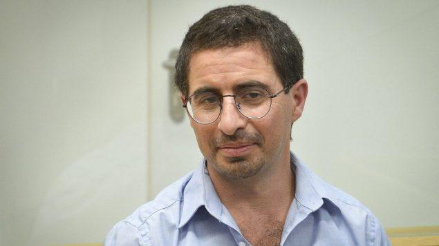 الون كاستيل في المحكمة المركزية في تل ابيب، 23 يوليو 2018 (Flash90)