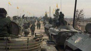 حزب الله يعرض معداته العسكرية في القصير، سوريا، تشرين الثاني / نوفمبر 2016. (تويتر)