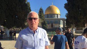 وزير الزراعة أوري ارئيل يزور الحرم القدسي، 8 يوليو 2018 (Courtesy)