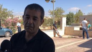 يعكوف عوفاديا، الذي قتل ابنه يوتام في هجوم في مستوطنة آدم في الضفة الغربية في 26 يوليو 2018. (Jacob Magid)