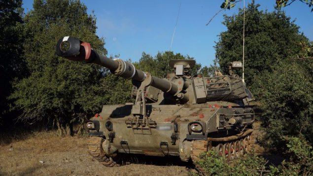دبابة اسرائيلية في مرتفعات الجولان، بالقرب من الحدود السورية، 1 يوليو 2018 (Israel Defense Forces)
