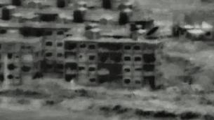 موقع تابع للجيش السوري قصفه سلاح الجو الإسرائيلي ردا على تسلل طائرة مسيرة سوريا للمجال الجوي الإسرائيلي في اليوم السابق، 12 يوليو 2018 (screen capture: IDF)