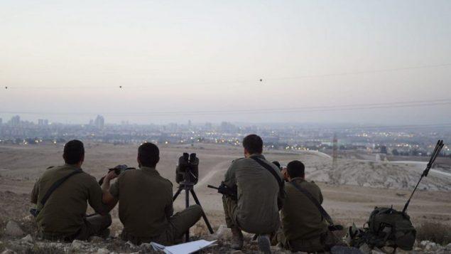جنود اسرائيليون يشاركون في تدريب عسكري يحاكي الحرب مع غزة، يوليو 2018 (Israel Defense Forces)