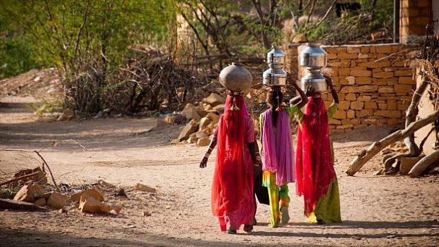 صورة توضيحية لنساء يحملن الماء في إحدى القرى في الهند (FrankCornfield؛ iStock by Getty Images)