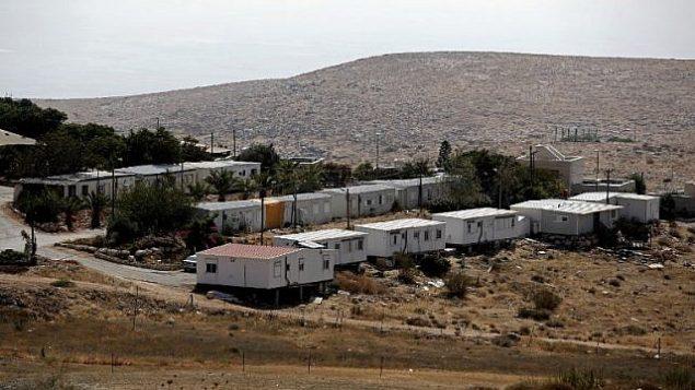 صورة لمستوطنة متسبيه كراميم في الضفة الغربية، 29 أغسطس، 2018.   (AFP / THOMAS COEX)