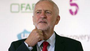 رئيس حزب العمال البريطاني جيرمي كوربين في سكوتلندا، 23 اغسطس 2018 (Jane Barlow/PA via AP)