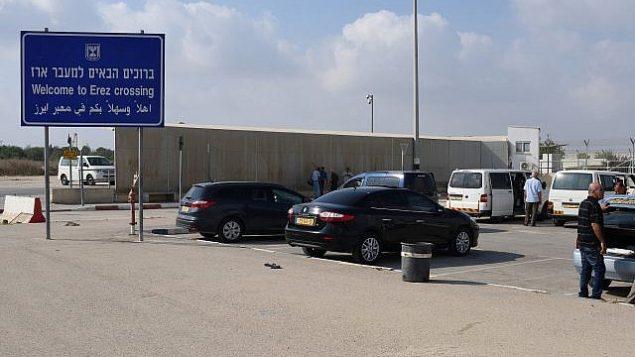 """معبر المشاة """"إيرز"""" الواقع على الحدود الإسرائيلية مع غزة مع صمود وقف لإطلاق النار بعد يوم من تبادل مكثف لإطلاق النار بين إسرائيل وحماس في 15 يوليو، 2018.  (Gili Yaari/Flash90)"""