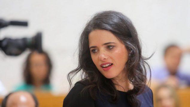 وزيرة العدل أيليت شاكيد في المحكمة العليا في القدس، 2 اغسطس 2018 (Marc Israel Sellem/Flash90)