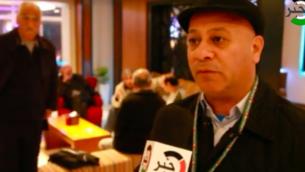 العضو في اللجنة التنفيذية لمنظمة التحرير الفلسطينية أحمد أبو هولي.  (Screenshot/Youtube)