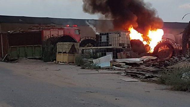 موقع سقوط قذيفة اطلقت من قطاع غزة داخل منزل في منطقة اشكول، جنوب اسرائيل، متسببة بإصابة شخصين، 9 اغسطس 2018 (Eshkol Security)
