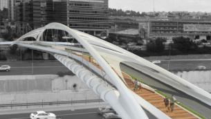 تصور ل'جسر يهوديت' في تل أبيب. (NCArchitects)