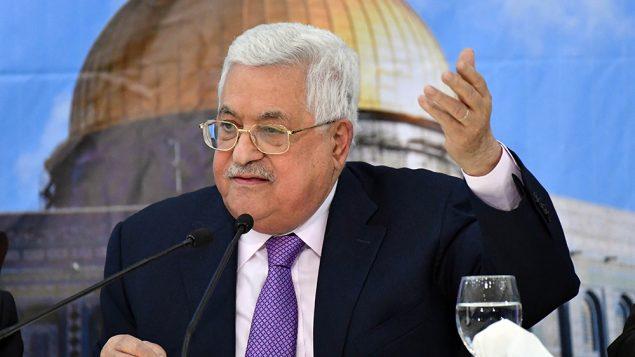 رئيس السلطة الفلسطينية محمود عباس يقدم خطاب، 15 اغسطس 2018 (WAFA)