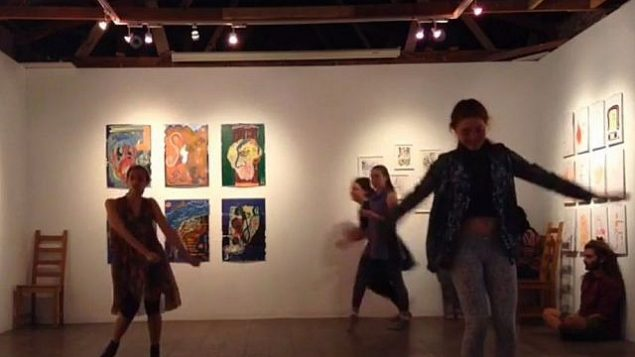 عرض راقص في معرض بربور في القدس، 2017 (لقطة شاشة: YouTube)