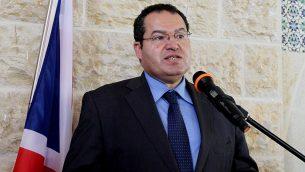 مجدي الخالدي، المستشار الدبلوماسي لرئيس السلطة الفلسطينية محمود عباس (Wafa)