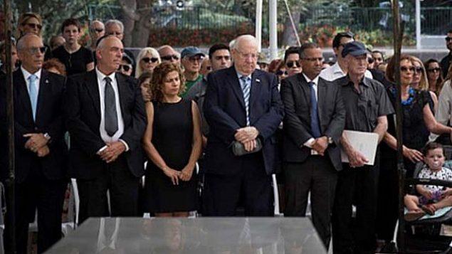 الاحتفال بالذكرى الثانية لوفاة شمعون بيرس، رئيس إسرائيل التاسع، 31 أغسطس 2018 (Flash 90)