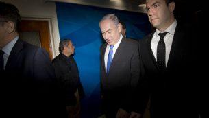ديفيد كيز مع رئيس الوزراء بنيامين نتنياهو في القجس، 7 مايو 2017 (AP/Oded Balilty, Pool)