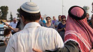 صورة توضيحية - مراسيم خاصة صللاة يهودية اسلامية مشتركة بعد الهجوم في دوما 2 أغسطس / آب 2015   Nati Shohat/Flash90