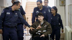 ايمن كرد في محكمة القدس المركزية، 13 فبراير 2018 (Yonatan Sindel/Flash90)
