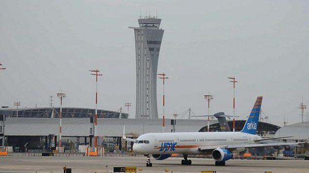 مطار بن غوريون الدولي بالقرب من اللد، 8 مايو 2018 (Tomer Neuberg/Flash90)