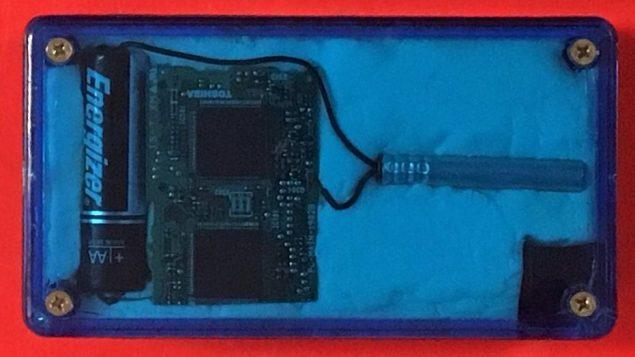 قنبلة مزيفة تم العثور عليها داخل حقيبة رجل اسرائيلي، في صورة صدرت في 5 سبتمبر 2018 (TSA)