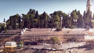 تصور المهندس المعماري للعربة السلكية التي تعبر وادي هينوم في القدس إلى جبل صهيون من فيديو ترويجي تم تحميله على موقع يوتيوب