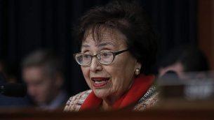 النائبة الديمقراطية في مجلس النواب عن ولاية نيويورك، نيتا لوي، تتحدث خلال جلسة للجنة مخصصات الميزانية حول الميزانية في تلة الكابيتول، واشنطن، 6 مارس، 2018. (Carolyn Kaster/AP)
