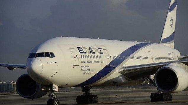 طائرة تابعة لشركة 'إل عال' في مطار بن غوريون الدولي، 17 أغسطس، 2016.  (Tomer Neuberg/Flash90)