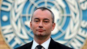 المبعوث الخاص للأمم المتحدة نيكولاي ملادينوف، 9 فبراير، 2015.  (CC BY-SA Ottokars, Wikipedia)