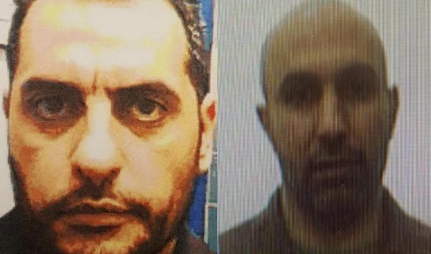 زاهر جبارين (يمين) وضرغام جبارين، الذي اعتقل في يناير 2018 بعد تجنيده من قبل زاهر جبارين لتوصيل اموال لحركة حماس (Shin Bet)