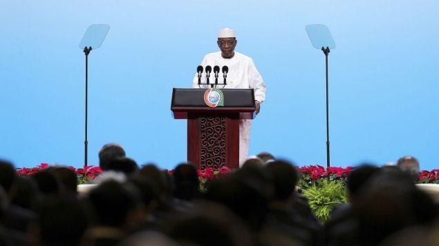 رئيس التشاد ادريس ديبي خلال مؤتمر في بكين، 3 سبتمبر 2018 (Lintao Zhang/Pool Photo via AP)