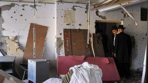 بيت حاباد في مومباي، حيث قُتل الحاخام غافريئل هولتزبرغ (29 عاما) وزوجته ريفكا (28 عاما)، في هجوم نفذه متطرفين إسلاميين، في صورة تم التقاطها في 25 ديسمبر، 2008.   (Serge Attal/ Flash90)