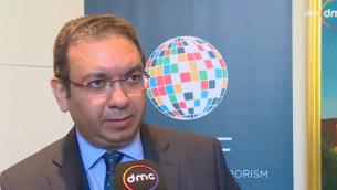 خالد عزمي، السفير المصري الجديد لدى إسرائيل، خلال مقابلة معه في يناير 2017. (Screenshot: Youtube)