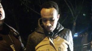 تسفابرهان تسفاسيون خلال اعتقاله بتهمة قتل ابنة صديقته السابقة، 28 نوفمبر، 2018.  (Courtesy)