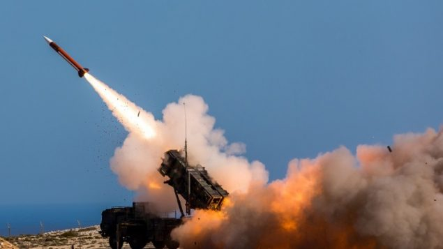 صورة توضيحية، صاروخ باتريوت (Sebastian Apel/US Department of Defense, via AP)
