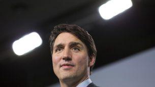رئيس الوزراء الكندي جاستين ترودو خلال مؤتمر صحفي عند ختام قمة مجموعة السبعة في كيبيك، 9 يونيو 2018 (LARS HAGBERG / AFP)