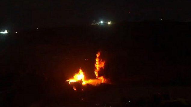 الجيش الإسرائيلي يفجر نفقا يصل إلى إسرائيل تحت الحدود من لبنان، 20 كانون الأول / ديسمبر، 2018 (المتحدث باسم الجيش الإسرائيلي)
