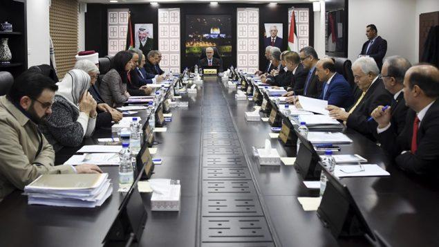 جلسة لحكومة السلطة الفلسطينية في رام الله، 27 ديسمبر 2018 (Wafa)