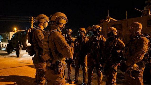 جنود إسرائيليون يعملون في الضفة الغربية، 14 ديسمبر، 2018.  (IDF Spokesperson's Unit)