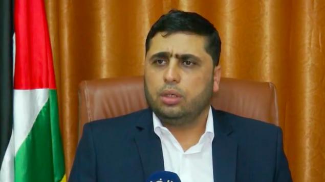 الناطق باسم حماس عبد اللطيف القانوع، 7 اكتوبر 2018 (Screenshot: Youtube)