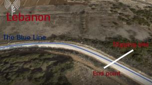 صورة شاشة من فيديو نشره الجيش الإسرائيلي في 19 ديسمبر، يظهر مسار نفق عابر للحدود قال ان تنظيم حزب الله اللبناني حفره (Israel Defense Forces)